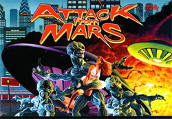 """ATTACK FROM MARS TRANSLITE"" (BALLY)"