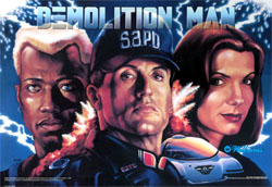 """DEMOLITION MAN TRANSLITE"" (WILLIAMS)"