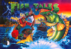 "ARTWORK PINBALL: ""FISH TALES TRANSLITE"" (WILLIAMS)"