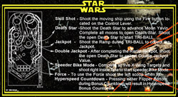 """Star Wars Pinball Instruction Card"" de DATA EAST. Por Mikonos."