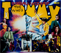"""THE WHO´S TOMMY PINBALL WIZARD TRANSLITE"" (DATA EAST): Escaneado y restaurado por Mikonos."